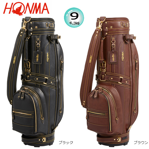 クラシックモデルキャディバッグ2019年モデル 本間ゴルフ(ホンマ) 9型(4.3kg) クラシック モデル キャディバッグ CB-1904 [HONMA CLASSIC MODEL CADDIE BAG]