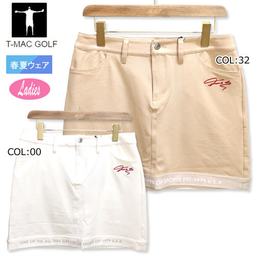 裾のラインがスポーティ ティーマック T-MAC 購入 NB83W ゴルフウェア スカート 市販 レディース