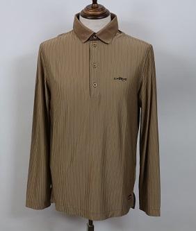 【春夏】 シェルボ CHERVO メンズ 031-25917  長袖 ポロシャツ ブラウン Mサイズ  2013SS10 ★