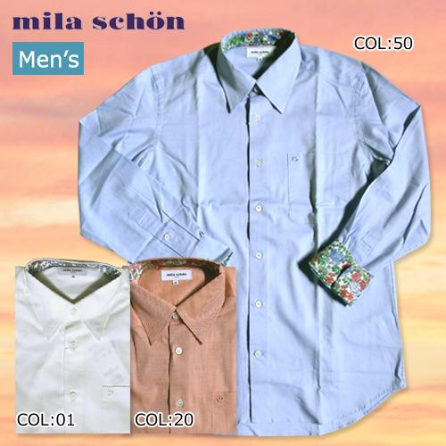 【mila schon】ミラショーン 31460-112 メンズ 薄手長袖シャツ