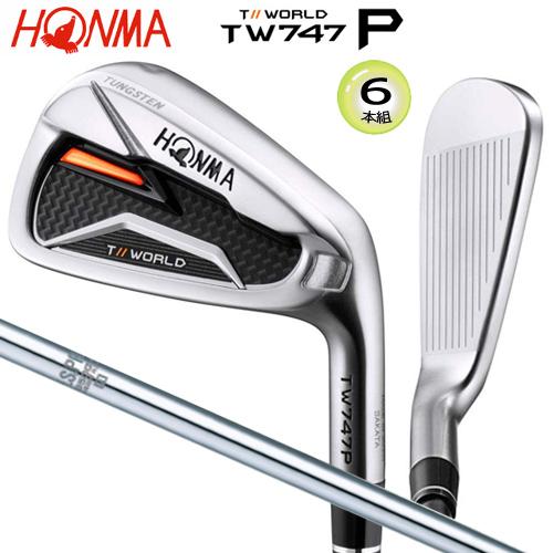 2019年モデル 本間ゴルフ(ホンマ) ツアーワールド TW747P アイアン 6本組(#5-#10) N.S.PRO 950GH スチールシャフト [HONMA TW747-P IRON N.S.PRO 950GH STEEL SHAFT]