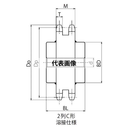 機械要素部品_伝動部品_スプロケット_スプロケットKANA 片山チエン:NK120-2C45 片山チエン スプロケット 限定モデル NK120-2C45 NK120-2C 限定モデル