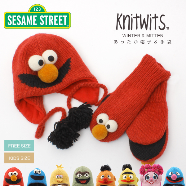 The SG AW that the SESAME STREET character hat mitten adult child kidss  animal snowboarding snowboarding knit hat present gloves hat whom even  30%OFF