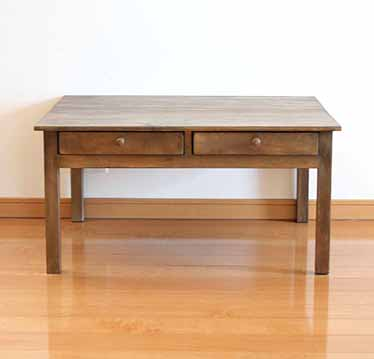 Coffee Table Chabudai Living Center Drawers With Drawer Cafe Country Natural Pine Wood Nordic Antique