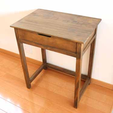 02P01Oct16 Consoltablenighttableside Table Desk Desk Desk Table Computer  Desk PC Desksidebordcountry Natural Pine Wood Nordic Cafe Antique ...