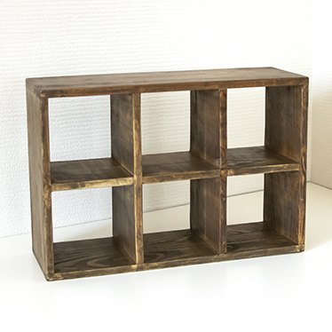 Cubic rack 6 CD rack display case storing shelf kitchen spice rack display  shelf-free rack display rack mug cup rack wooden storing Wood country ...
