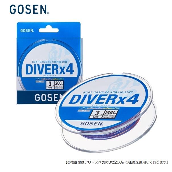 ふるさと割 おすすめ特集 人気の船釣りおすすめPEライン ゴーセン ダイバーX4 3号 メール便配送可 用品 200m