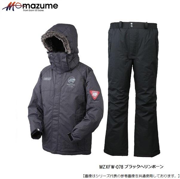MAZUME 人気の防寒ウェア おすすめです マズメ 高級 MZXFW-078 MZX ポップ6 3L ブラックヘリンボーン コンタクトオールウェザースーツ ハイクオリティ アパレル