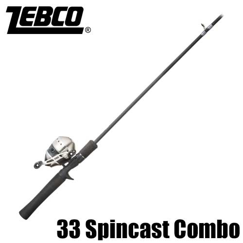 【ゼブコ】 33 スピンキャスト コンボ / 33 Spincast Rod and Reel Combo with Tackle Pack