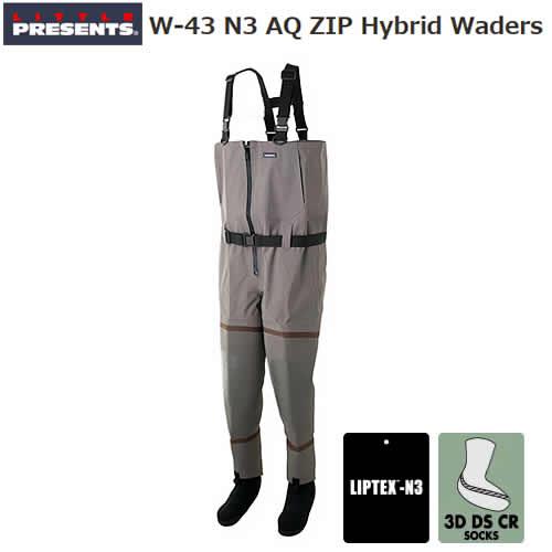 リトルプレゼンツ N3 AQ ZIP ハイブリッドウエーダー W-43 (ウエーダー)