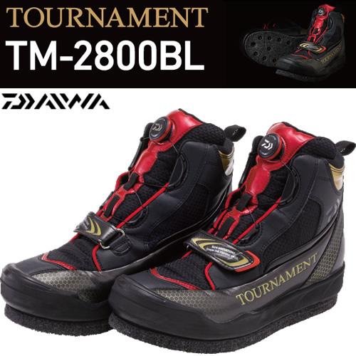 ダイワ トーナメントフィッシングシューズ TM-2800BL ブラック (フィッシングシューズ スパイク)