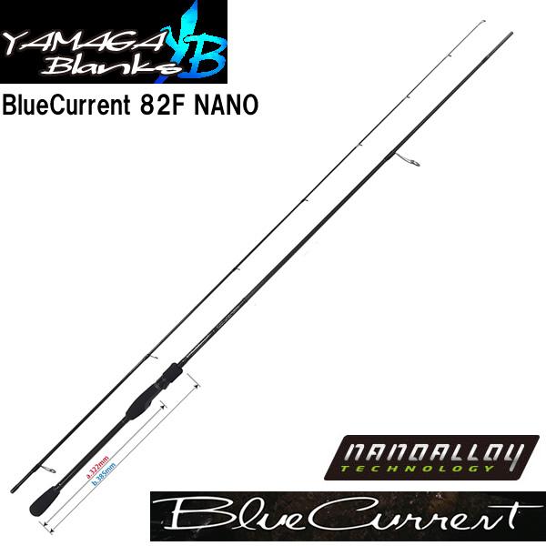 ヤマガブランクス ブルーカレント 82F ナノ (アジングロッド メバルロッド) (大型商品A)