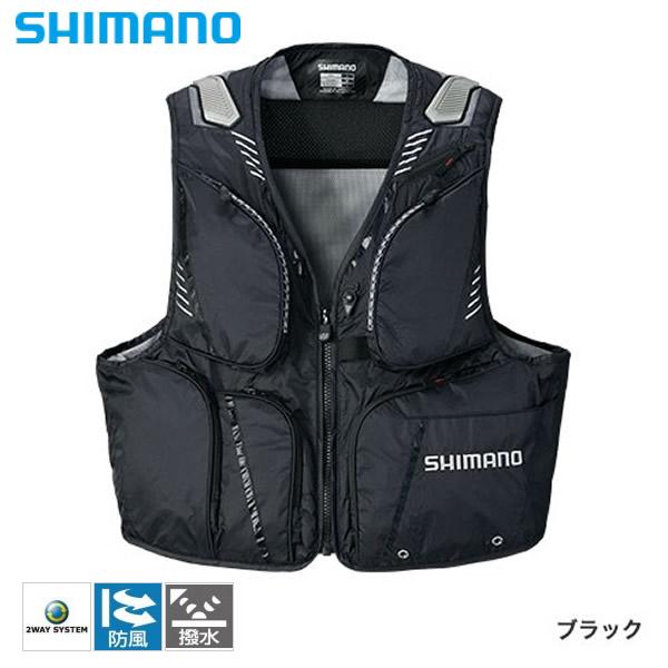 シマノ 2WAYベストXT ブラック VE-022Q (鮎ベスト) 2XL