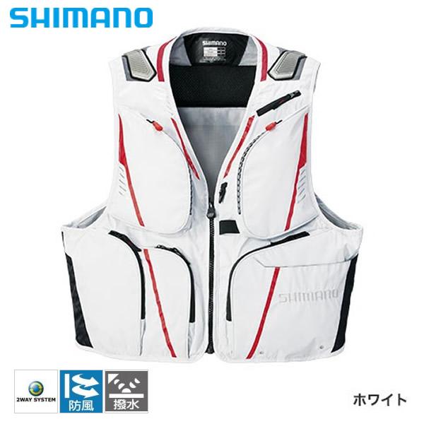 シマノ 2WAYベストXT ホワイト VE-022Q (鮎ベスト)