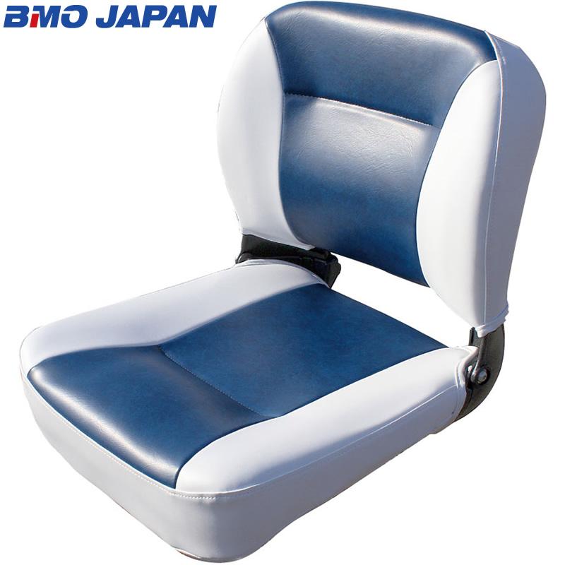 BMO JAPAN デラックスフォールディングシート C12509W/N (ボート備品) ホワイト/ネイビー