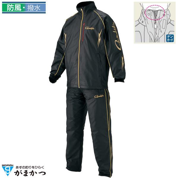 がまかつ ウインドブレーカースーツ ブラック GM-3482 (フィッシングウェア)
