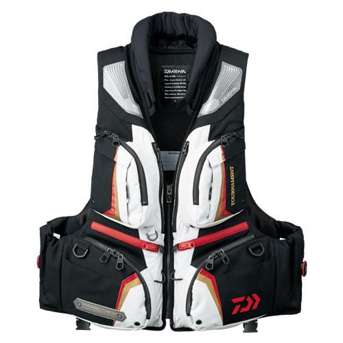 ダイワ Tバリアテック枕付サイバーフロート ライトグレー DF-3107 M-XL(ライフジャケット)