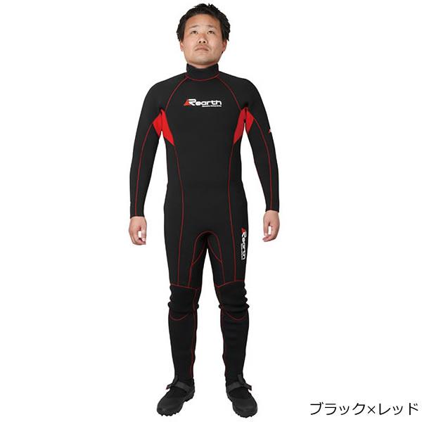 リアス Rearth ウエットスーツ ブラック/レッド FWS-3400 (ウェットスーツ)