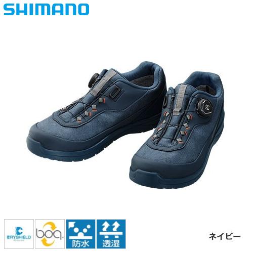 シマノ ドライシールド デッキラジアルフィットシューズ LW ネイビー FS-081Q (フィッシングシューズ)
