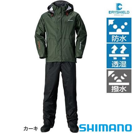 シマノ DSベーシックスーツ RA-027Q カーキ M~XL (レインウエア レインスーツ)