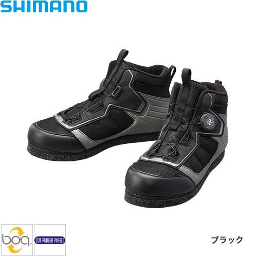 シマノ カットラバーピンフェルトフィットシューズ LT ブラック FS-041Q (フィッシングシューズ)