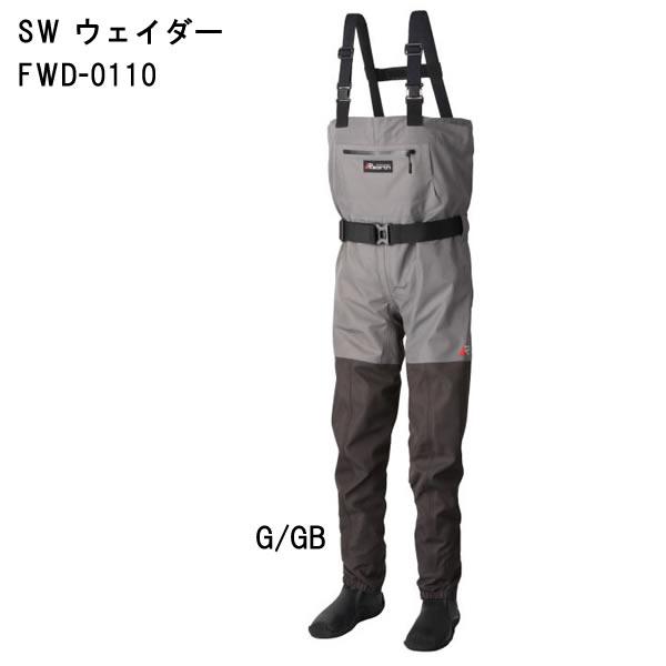 リアス Rearth SW ウェイダー FWD-0110 GRY・BLK(透湿ウェーダー)