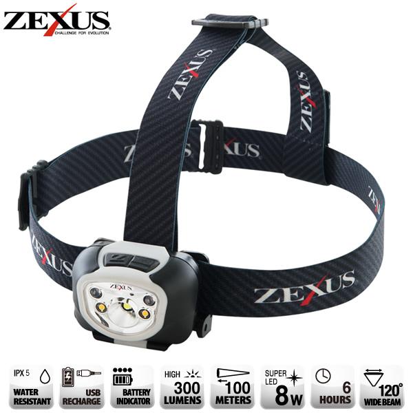冨士灯器 ZEXUS(ゼクサス) LEDライト 充電式 ZX-R260 (ヘッドライト)