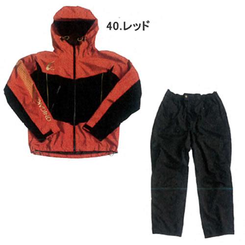 ハヤブサ 鬼掛レイヤードスーツ レッド (S~3L) YS104G (レインウェア)