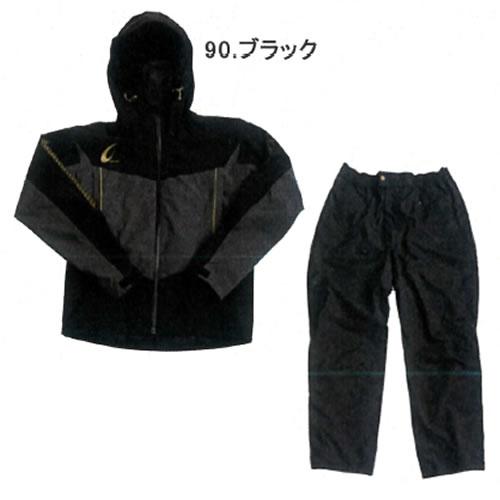 ハヤブサ 鬼掛レイヤードスーツ ブラック (S~3L) YS104G (レインウェア)