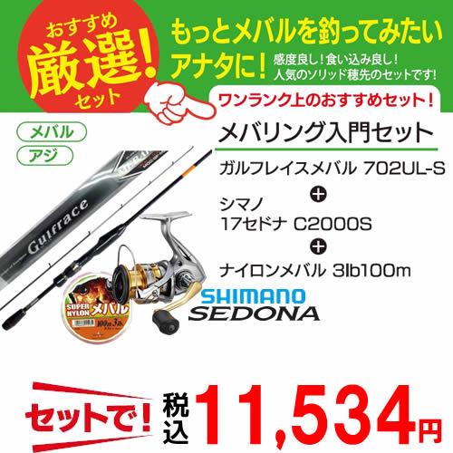 【最大1200円OFFクーポン対象店舗】 ガルフレイスメバル ワンランク上のメバリング入門 3点セット