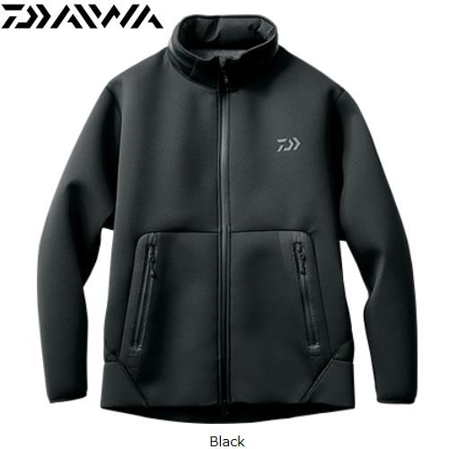 ダイワ ウィンドブロック フルジップパーカ DJ-2707 ブラック M~XL(防寒着 防寒ウエア 釣り)