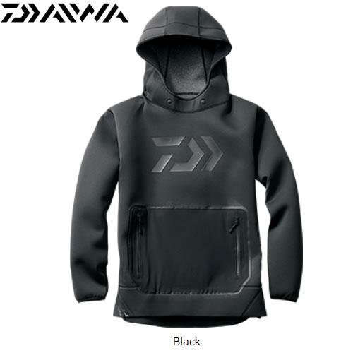 ダイワ ウィンドブロック フーディー DJ-2807 ブラック M~XL(防寒着 防寒ウエア 釣り)