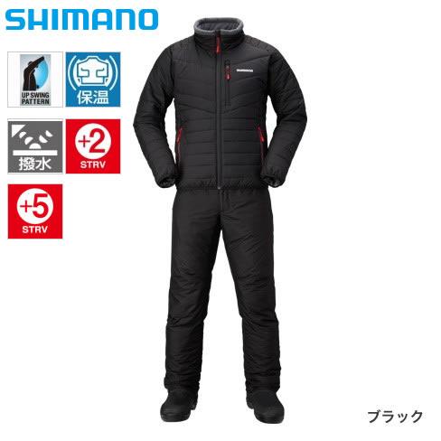 シマノ ベーシック インシュレーション スーツ MD-055Q ブラック S~XL (防寒着 防寒ウエア)