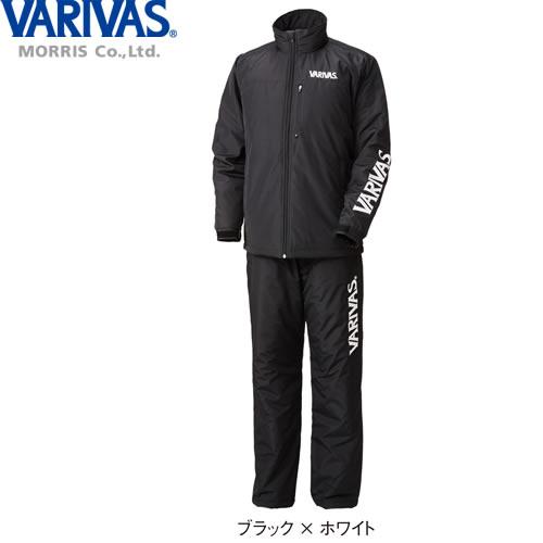 バリバス ウォームスーツ VAAW-22 ブラック×ホワイト M~LL (防寒着 上下セット)