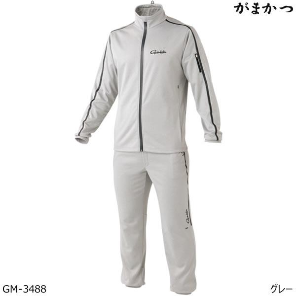 がまかつ ホットメルトスムースジャージスーツ GM-3488 グレー S~5L (釣り 防寒着)