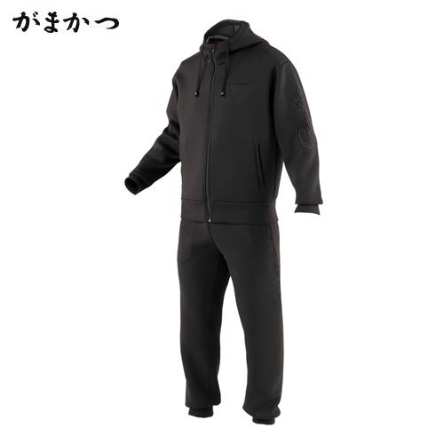 がまかつ ウォームニットスーツ GM-3490 ブラック (防寒着 防寒ウエア 釣り)