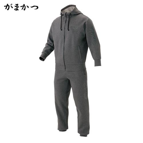 がまかつ ウォームニットスーツ GM-3490 グレー (防寒着 防寒ウエア 釣り)