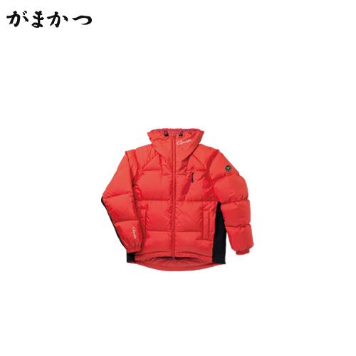 がまかつ ダウンジャケット GM-3491 オレンジ (防寒着 防寒ウエア 釣り)