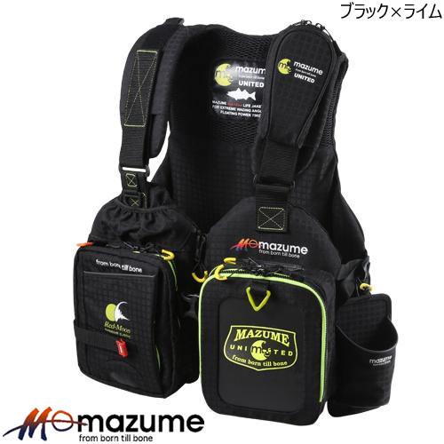 マズメ レッドムーンライフジャケット5 MZLJ-250 ブラック×ライム (マズメ ゲームベスト)