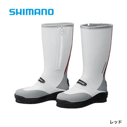 シマノ カットラバー ピンフェルトブーツ FB-031Q レッド (フィッシングブーツ)