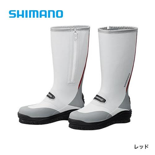 シマノ カットラバー ピンフェルトブーツW (ワイドタイプ) FB-032Q レッド (フィッシングブーツ)