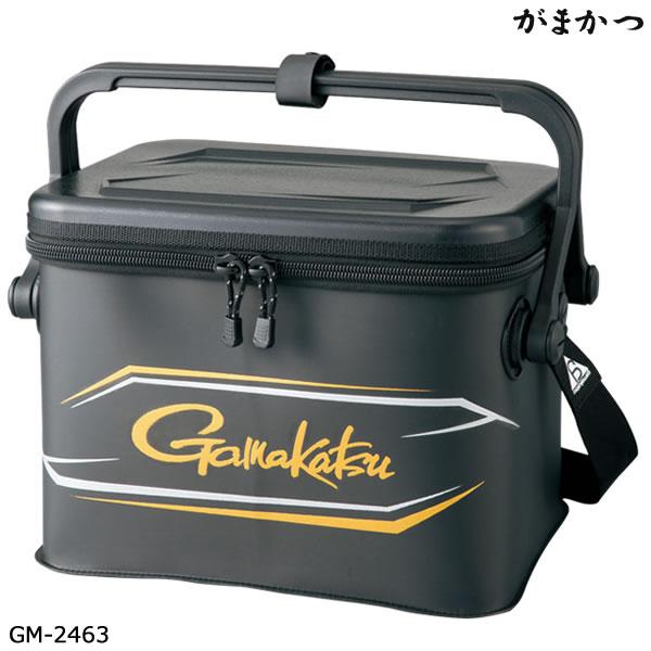 がまかつ タックルバッカン GM-2463 ブラック (バッカン タックルバッグ)