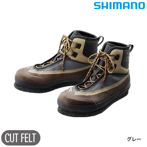 シマノ XEFO カットフェルト ウェーディングシューズVU FS-222R グレー (フィッシングシューズ)