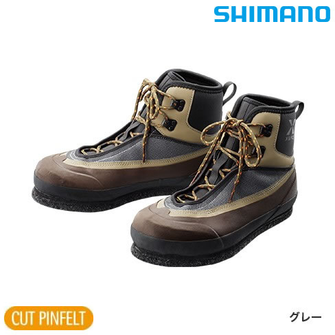 シマノ XEFO カットピンフェルト ウェーディングシューズVU FS-242R グレー (フィッシングシューズ)