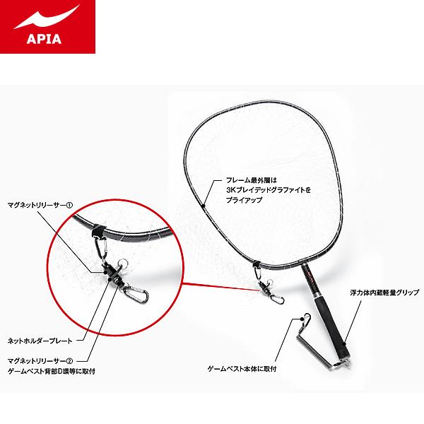 アピア カーボンウェーディングネット3 (ランディングネット) (大型商品A)