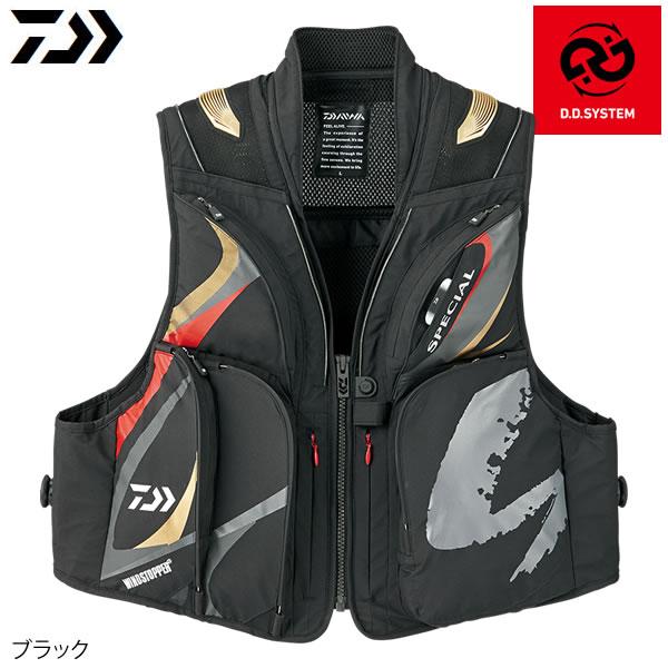ダイワ スペシャル ウィンドストッパー ショートベスト DV-1008 ブラック M~XL (鮎ベスト)