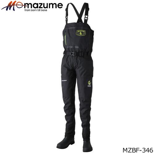 マズメ mazume ブーツフットウェイダー MZBF-346 ブラック フエルトソール (透湿ウェーダー ゲームウェイダー)