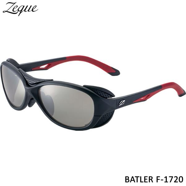 ZEAL (ジール) バトラー F-1720 ブラック/レッド トゥルービュースポーツ/シルバーミラー (サングラス 偏光グラス)