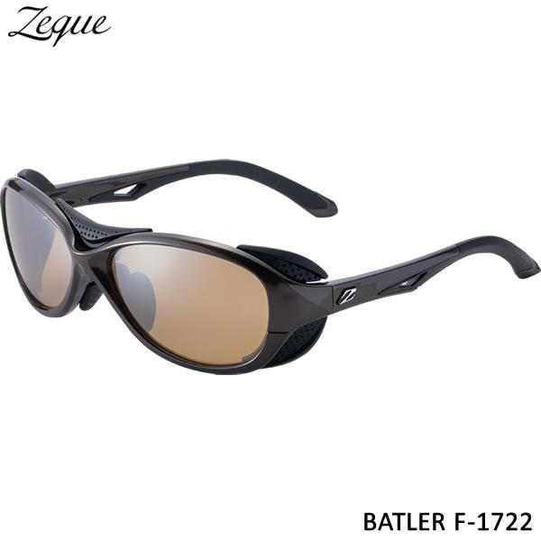 ZEAL (ジール) バトラー F-1722 ブラウン/ブラック ラスターオレンジ/シルバーミラー (サングラス 偏光グラス)