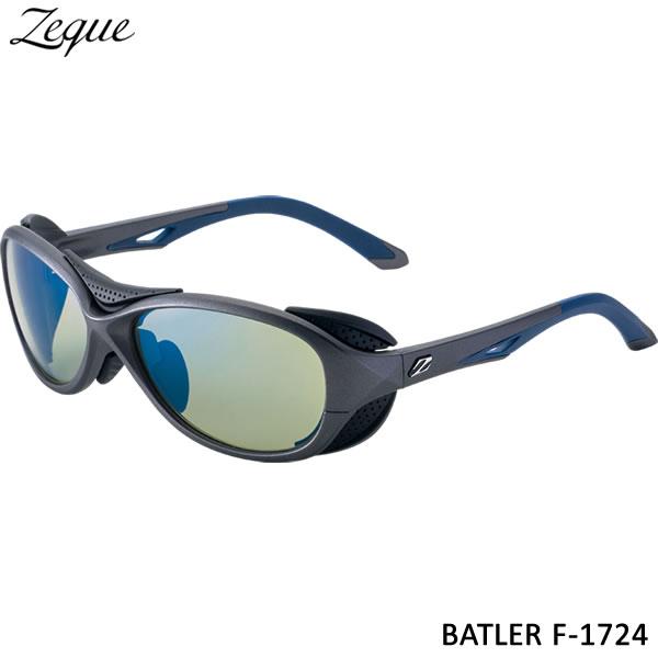 ZEAL (ジール) バトラー F-1724 ガンメタル/ネイビー イースグリーン/ブルーミラー (サングラス 偏光グラス)